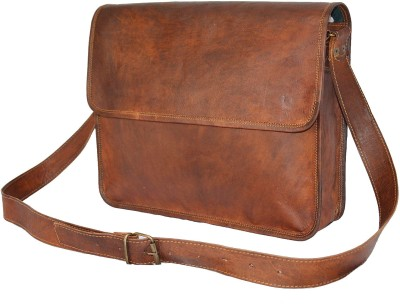 Hide 1858 TM Genuine Leather Ladies Bag Large Briefcase - For Boys, Men, Girls, Women