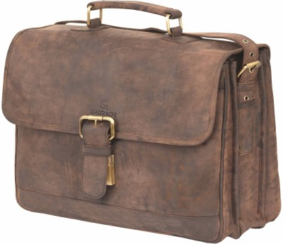 Leaderachi Siena Large Briefcase - For Men(Multicolor)