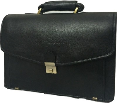 Da Tasche LTHR 1 BL Large Briefcase - For Men, Women