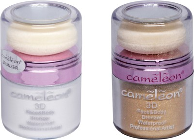Cameleon 3D Face & Body Waterproof Bronzer Combo Pack