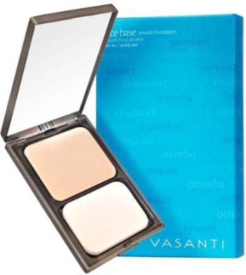 Vasanti Cosmetics Face Base Powder Foundation with Mineral Pigments - Oil-Free, Paraben-Free (V1 - Fair to Light)