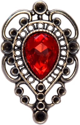 YNK fashion Black silver And Red lapel Pin / Brooch Brooch