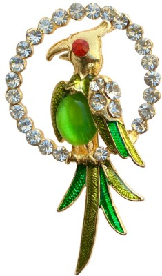 B-Fashionable Swinging Parrot Brooch(Green)