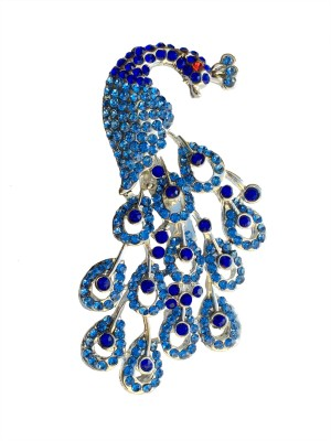 B-Fashionable Radiant Peacock Brooch(Blue)
