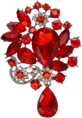 YNK fashion Diamond And Red lapel Pin / Brooch Brooch