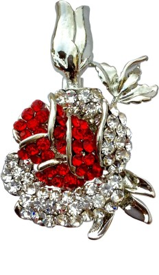B-Fashionable Rose Bud Brooch(Red)