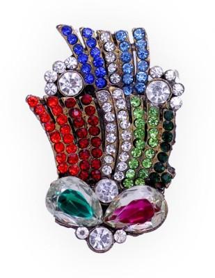 Jaipur Mart Designer Multi Color Kundan Brooch