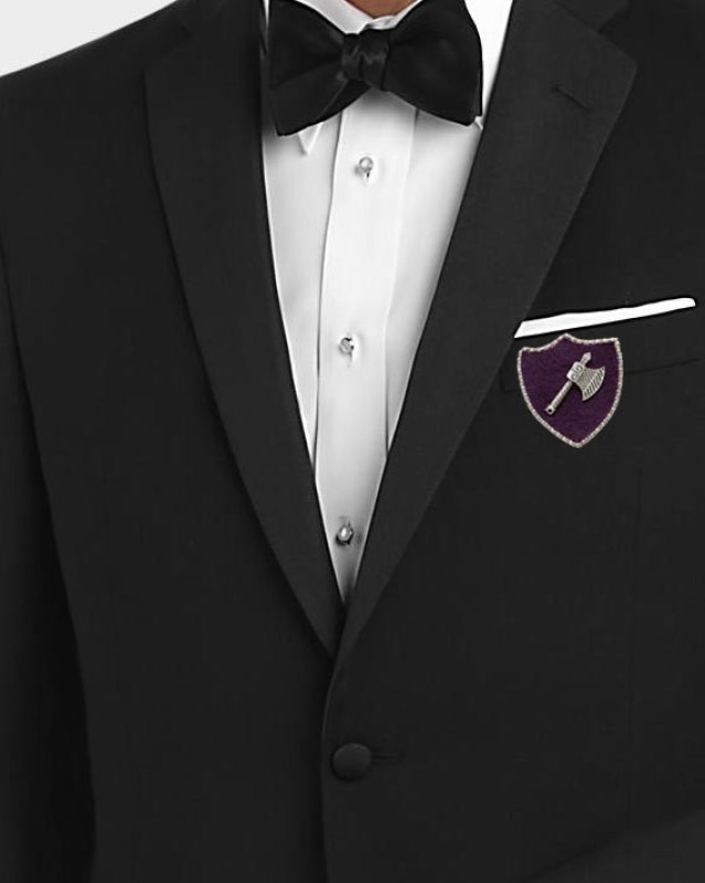 Outdazzle Designer Vintage Axe for Men's Suit, Jackets, Shirts & Bags lapel Pin Brooch(Purple)