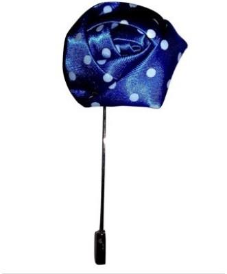 Abzr Abzr Blue Dotted Flower Lapel Pin Brooch