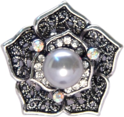 YNK fashion Black silver And White lapel / Brooch Pin Brooch