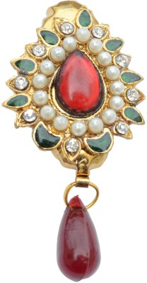 Foppish Mart Drop Pearl Brooch Saree Pin Brooch