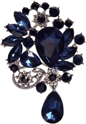 YNK fashion Diamond And Blue lapel Pin / Brooch Brooch