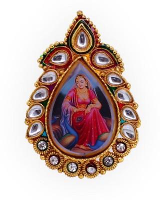 Jaipur Mart Kundan Painting Women Brooch