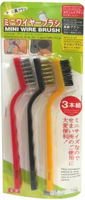 DCS Mini Wire Brush Cleaning Kit(Set of 3) Stainless Steel Wet and Dry Broom(Multicolor, Pack of 1)