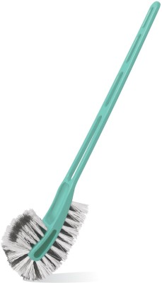 Spotzero Toilet - Double Side Bristles Plastic Wet Brush(Green, Pack of 1)