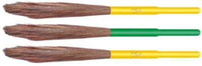 Aum cleen Wooden Dry Broom(Multicolor, Pack of 3)