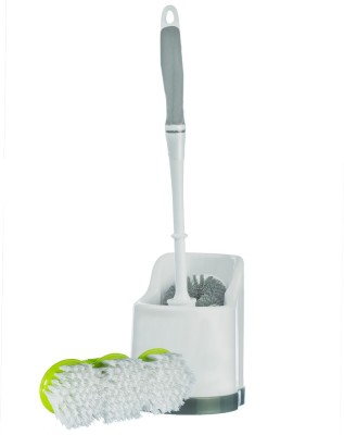 Aasaan Toilet Cleaning With Stand And Floors & Tiles Scrubber Polypropylene Wet and Dry Brush
