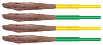 Aum cleen Wooden Dry Broom(Multicolor, Pack of 4)