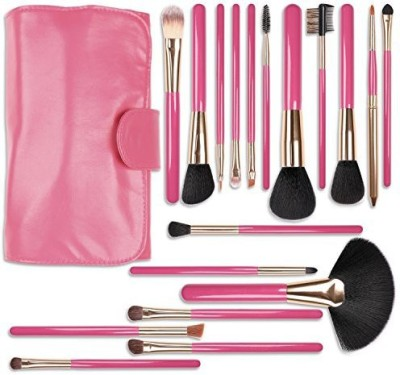 Docolor Wooden Handle Professional Makeup Brush Set with Rose Red Cosmetics Case