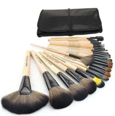 Puna Store 24 Piece Makeup Brush Set with Leather Bag(Pack of 24)