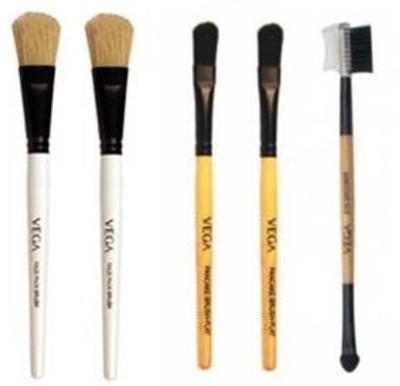 VEGA Facepack Brush, PanCake Brush, Eye Applicator & Groomer Brush