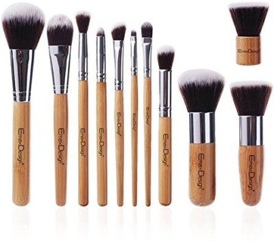 EmaxDesign Makeup Brush Set Bamboo Handle