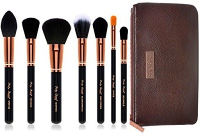 PartyQueen Unique Vision Makeup Brush Face Set-Silky Density Synthetic Bristles Cosmetic Kit