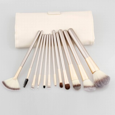 Dewberry 12 Pcs Professional Champagne Gold Makeup Brush Set