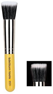 Bdellium Tools Tools Travel Line Duet Fiber Foundation Brush, Yellow