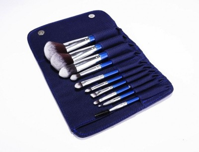 Infinitive Beauty ,Essential- You Blue Their Minds, 10pc Piece Blue Blueberry Soft Hair Brushess