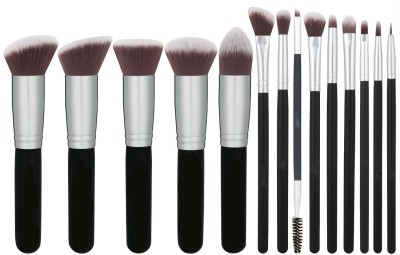Shrih Foundations Concealers Eye Shadows Silver Black Makeup Brush Sets