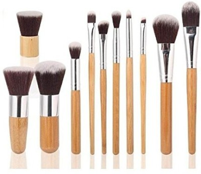 HOSL Makeup Brush Set Powder Foundation blusher Cosmetic Bamboo Handle with a brush bag