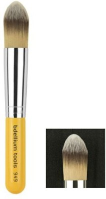 Bdellium Tools Tools Travel Line Pointed Foundation Brush, Yellow