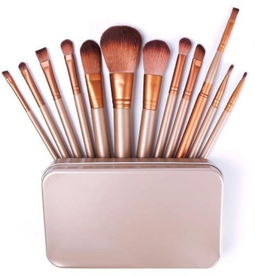 Dewberry 12 Pcs Professional Makeup Brush Set With Metal Case