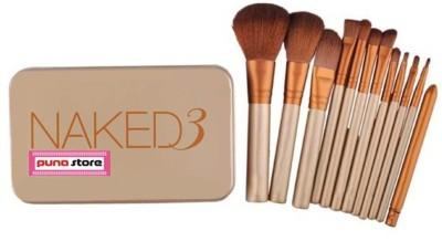 Puna Store NK3 - 12 Piece Makeup Brush Set with Storage Box