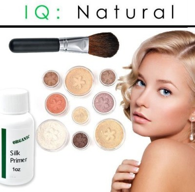 IQ Natural Large Pure Minerals Makeup Starter Set with Brush Fair Shade Under 30.00