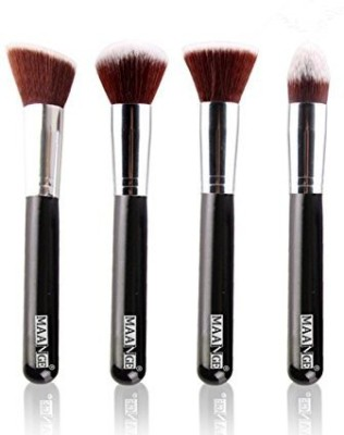 TLTSHOPS Face Synthetic Makeup Brush Set (Silver)
