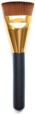 GYBest Makeup Brushe Flat Contour Brush Foundation Brush - (Golden and Black)