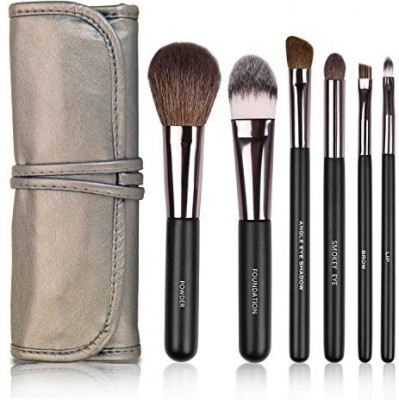 Docolor Wooden Handle Professional Makeup Brush Set with Cosmetics Case