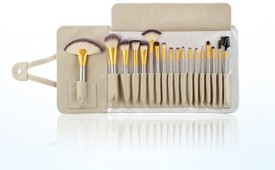 Unimeix Professional Makeup Cosmetics Brushes Set Kits with White Cream-colored PU Case Bag