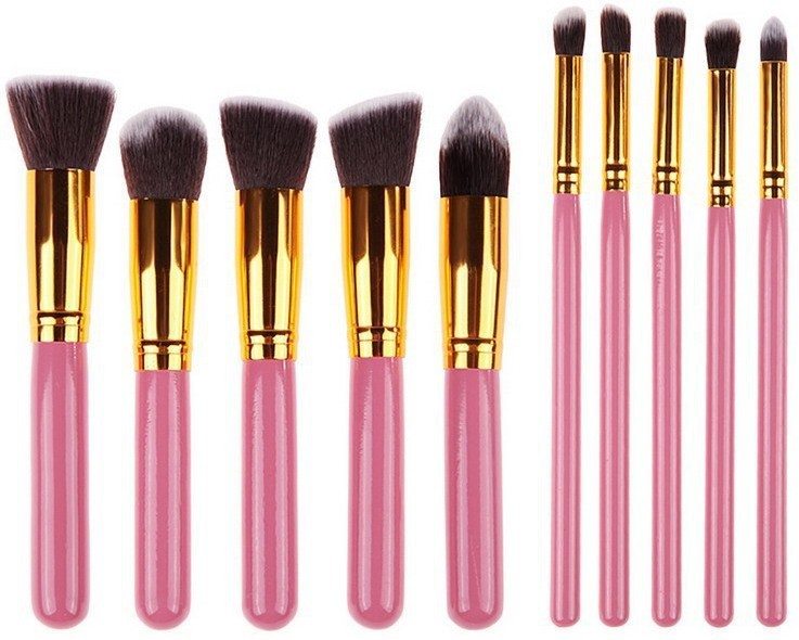 KARP Premium Synthetic Cosmetics Foundation Blending Blush Eyeliner Face Powder(Pack of 10)