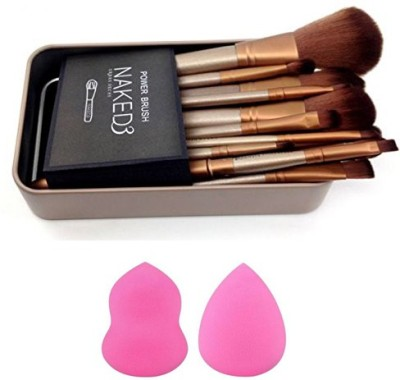 Urban Decay 12 Pcs Set with free 2 Pcs Makeup Puff Sponge