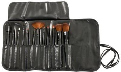 MASH 12pc Studio Pro Makeup Make Up Cosmetic Brush Set Kit w/ Leather Case