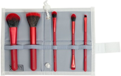 ROYAL BRUSH Moda Perfect Mineral Brush Set and Case, Red