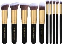 Bs-Mall Premium Synthetic Kabuki Makeup Brush Set(Pack of 10)