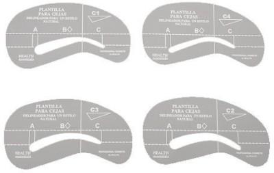 Aostek Reusable Eyebrow ABS Plastic Stencil Grooming Template Makeup
