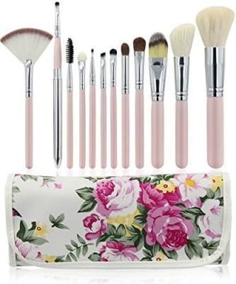 EmaxDesign Professional Makeup Brush Set Goat Hair Pink Handle Cosmetics Brushes Kits