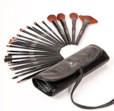 SHANY Cosmetics Studio Quality Natural Cosmetic Brush Set with Leather Pouch