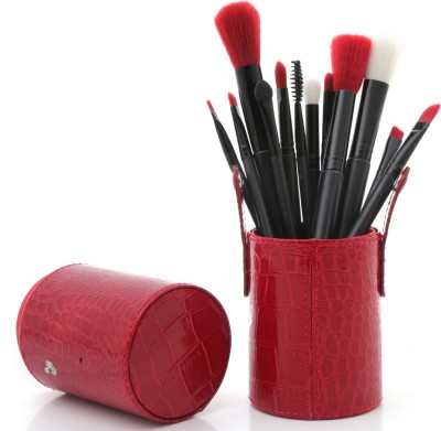 Foolzy Premium Makeup Brushes Kit With Leather Case