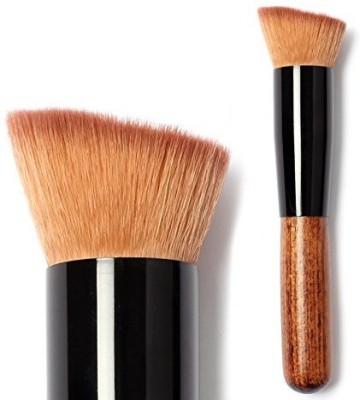 Mallofusa Makeup Brushes in Gorgeous Zebra Baga Full Featured Makeup Brush for Foundation Blush Cream Flat Top Buffing Foundation Brush